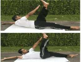Alternate toe touch Exercises Flat Tummy Abs
