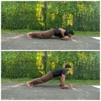 Incline Push Home Workout with Brick