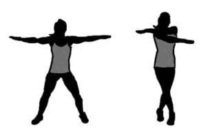 Cross Jack Cardio exercise