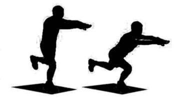Skater Squat Cardio exercise