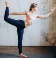 Natrajasana yoga poses improve concentration