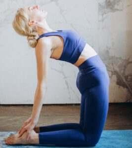 Ushtrasana Yoga poses improve concentration