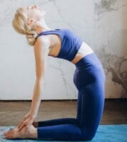 Ushtrasana Yoga poses improve concentration