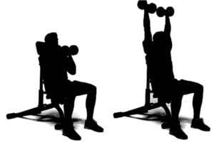 Dumbbell arnold shoulder press exercise