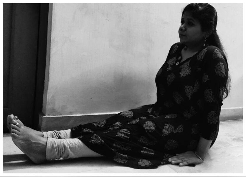 Dandasana yoga poses during pregnancy