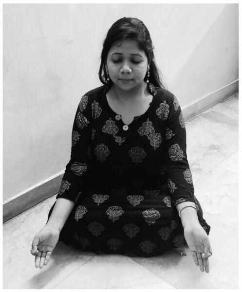 Sukhasana yoga poses during pregnancy