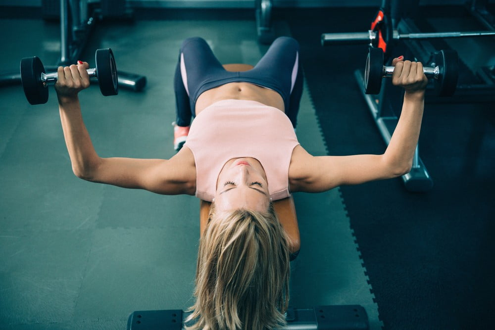 Close Grip Bench Press with Dumbbell